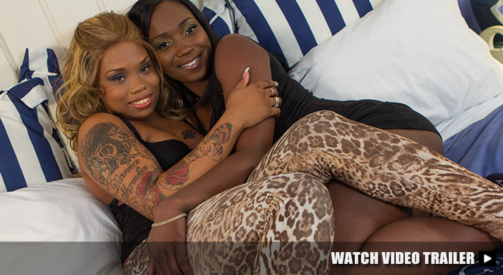 Black Booty Girls in Crazy Threesome Video